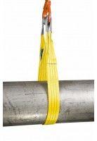 Rema Hijsbanden S1 3000KG Polyester met versterkte lussen GEEL (3T, 90mm bandbreedte)