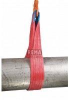 Rema Hijsbanden S1 5000KG Polyester met versterkte lussen ROOD (5T, 150mm bandbreedte)