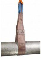 Rema Hijsbanden S1 6000KG Polyester met versterkte lussen BRUIN (6T, 180mm bandbreedte)