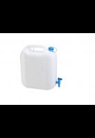 Jerrycan 20 liter met waterkraan wit